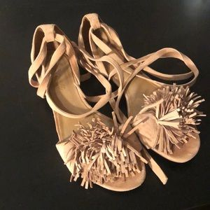 Pom Pom madewell open toed shoe